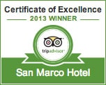 The San Marco Mykonos Hotel won the Tripadvisor Certificate of Excellence 2013 Award