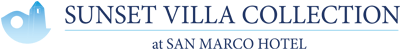 Sunset Villa Collection logo for sea view luxury villas in Mykonos at San Marco Hotel in Houlakia