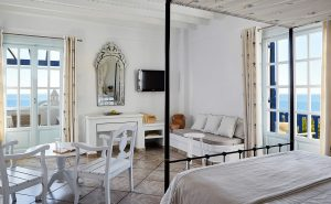 Anemos Honeymoon Suites at San Marco Mykonos Hotel are ideal for couples & have a living room area