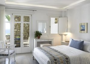 All Junior Open Plan Sea View Suites of the San Marco Mykonos are equipped with the latest amenities